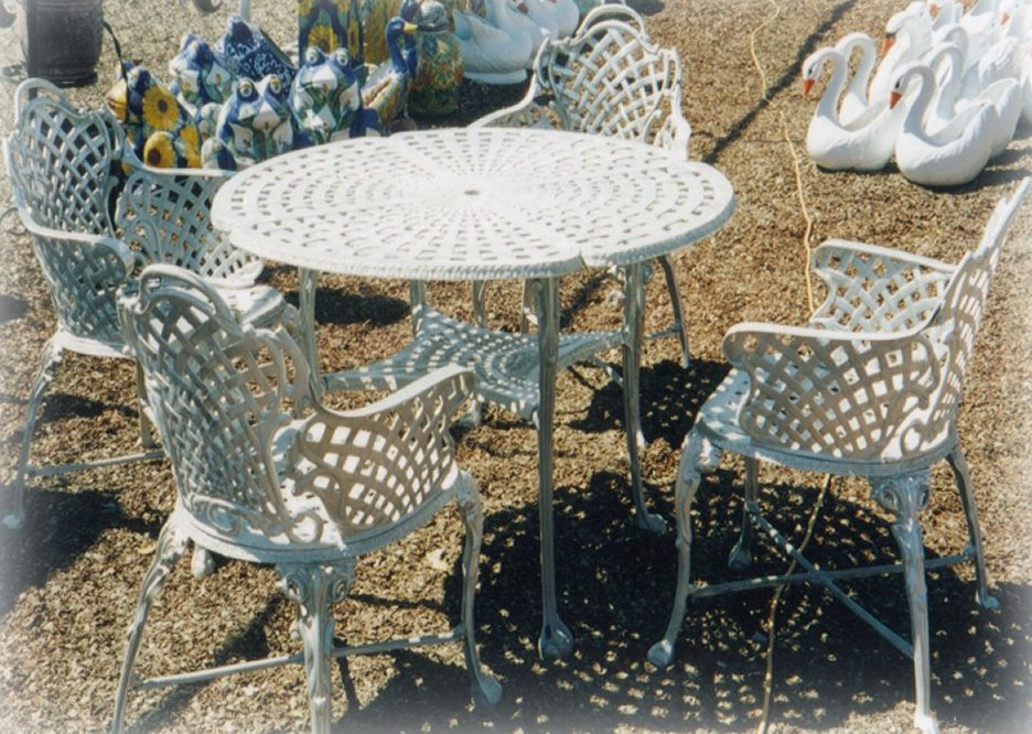 Basket Weave Patio Furniture Set