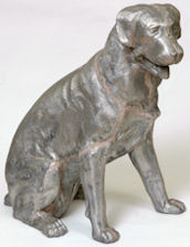 rottweiler statue natural size sitting dog