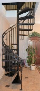 wrought iron spiral staircase