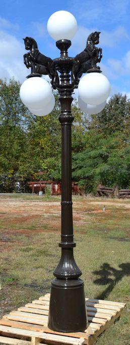 5 Light Horses Lamp Post