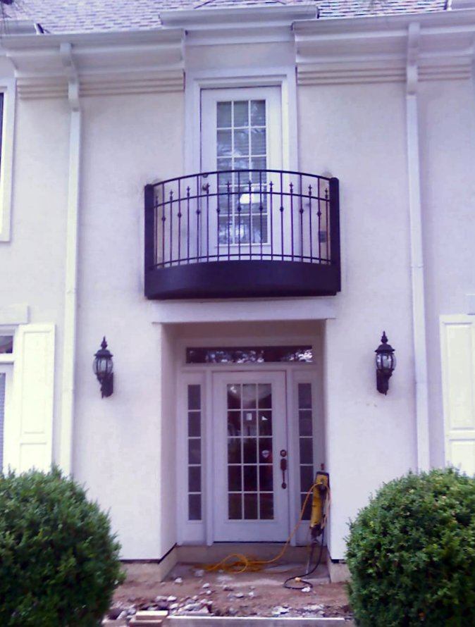 Curved Wrought Iron Balcony