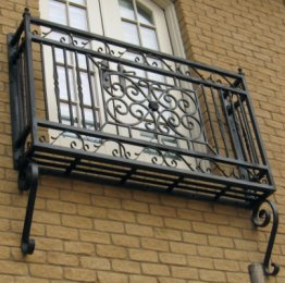 forged wrought iron juliette balcony