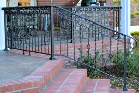 black wrought iron railing